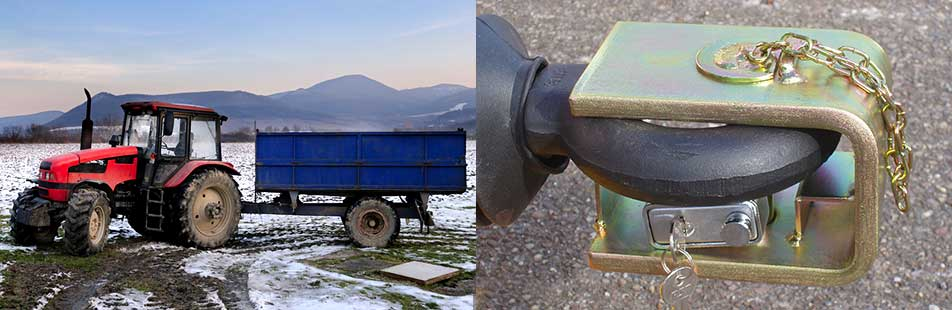 Trailer Locks For Construction And Agricultural Machinery